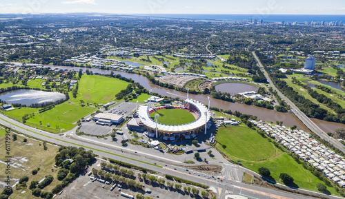Foto op Canvas Stadion Aerial view of Australian Stadium