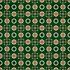 Green and brown mosaic