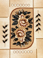 flower design of capet