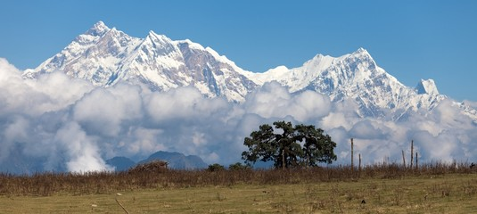 Panoramic view of Annapurna Himal - Nepal - Asia