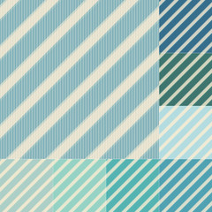 seamless green blue diagonal stripes pattern