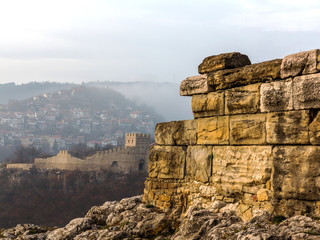 Ruins of an ancient fortress. Veliko Tarnovo, Bulgaria