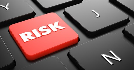 Risk on Red Keyboard Button.