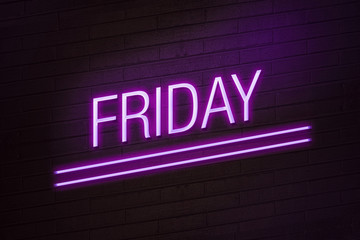 Friday going out concept neon sign