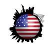 The New York Skyline USA Flag Globe