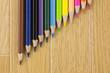 段差の色鉛筆