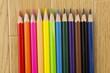 並んでいる色鉛筆