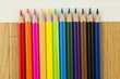 色鉛筆の並び