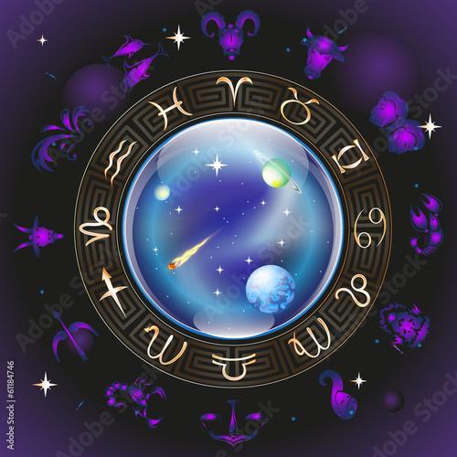 Постер, плакат: знаки зодиака, холст на подрамнике