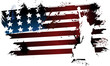 American grunge flag - 61185389