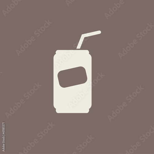 Flat Icon with shadow. Vector EPS 10.