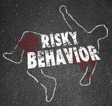 Risky Behavior Chalk Outline Dead Body Accident