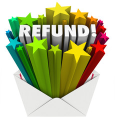 Refund Word Envelope Money Tax Return Mail
