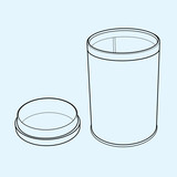 plastic bottle of medicine outline  vector