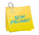 stay focused post message illustration design