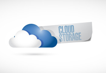 cloud storage sign illustration design