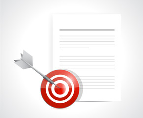target and documents. illustration design