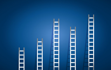 set of ladders illustration design