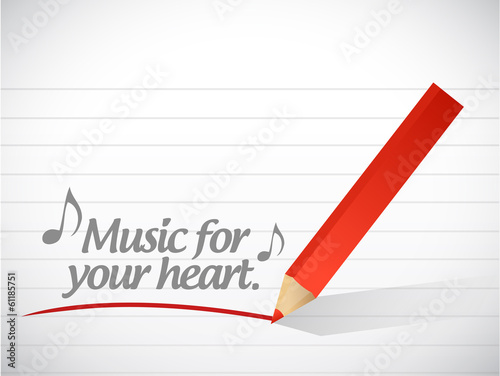 music for your hearts message. illustration