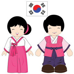 South Korea traditional costume