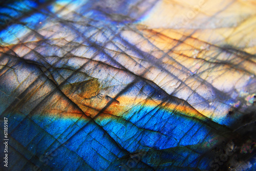 Canvas Edelsteen Labradorite mineral background