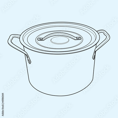 Pot  outline vector