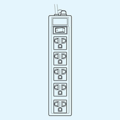 top view of plug sockets outline vector