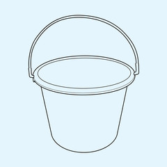 water bucket  outline vector