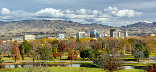 Autumn in the City of trees Boise Idaho