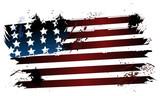 American grunge flag - 61186718