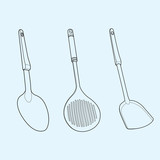 utensil outline vector