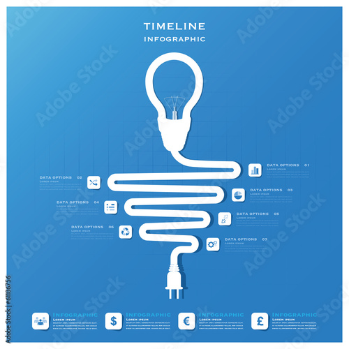 Light Bulb Timeline Business Infographic Design Template