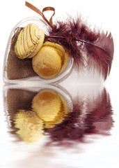 duo de macarons coeur Valentin