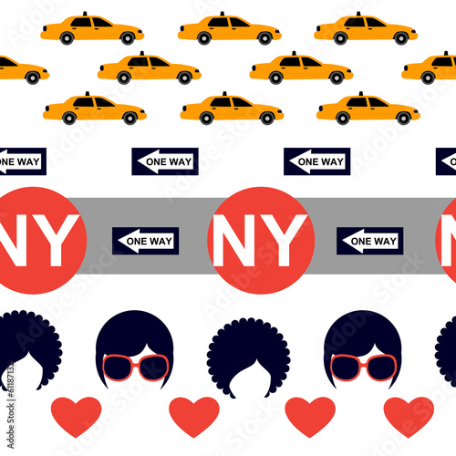 white New York pattern