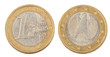 Front and Back of One Euro Coin
