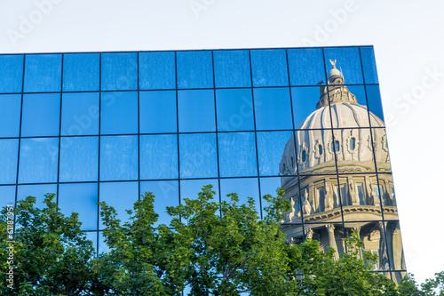 Idaho state capital building reflection