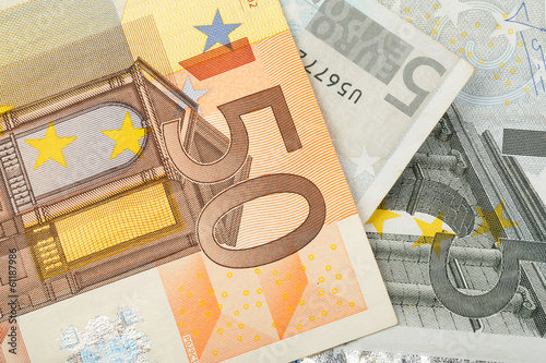 detail of euro money banknotes