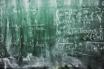 Math blackboard grunge