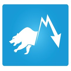 stock market, bear market symbol