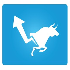 stock market, up market symbol