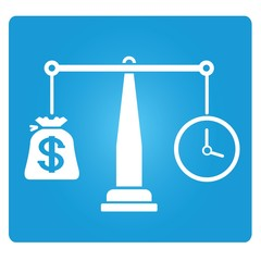 money and time balance symbol