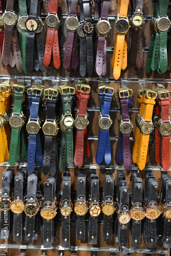 Group of unisex watches on the wall