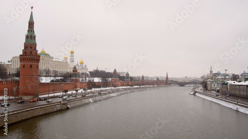 MOSCOW, RUSSIA - December 22: Winter view of the Moscow Kremlin