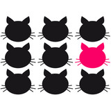 Cool Be Different Cat Design