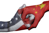 Handshake between United States and China