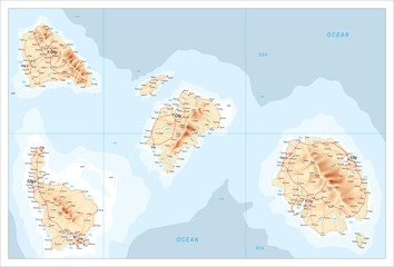 Map of unidentified islands