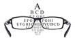 Sight test seen through eye glasses - 61190781