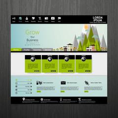 Flat Eco website template design