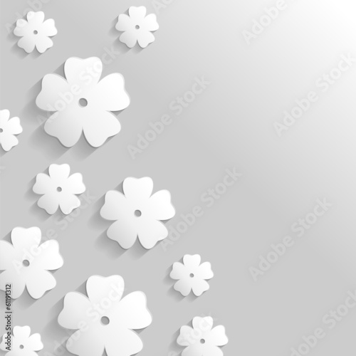 Flower greeting background