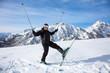 Plaisir des sports d'hiver